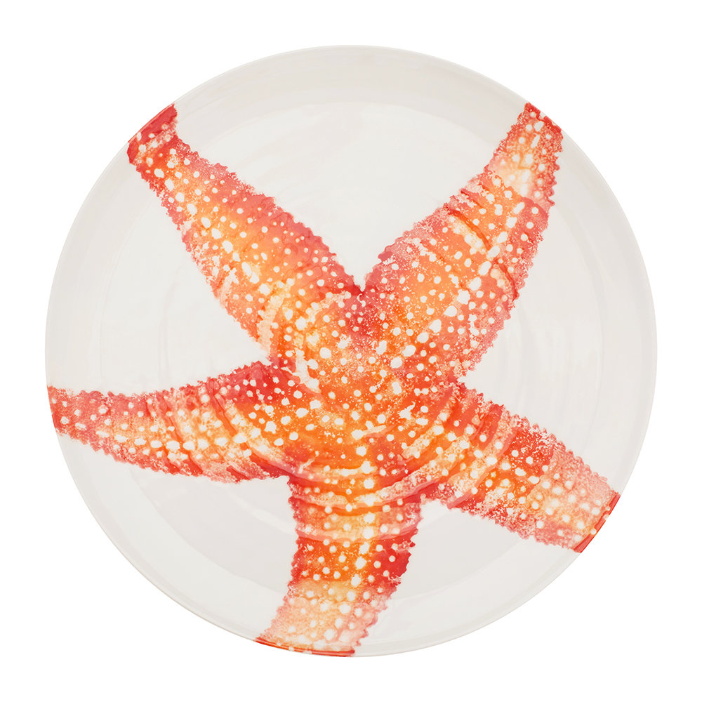 Bliss Home - Creatures Large Starfish Platter - Orange