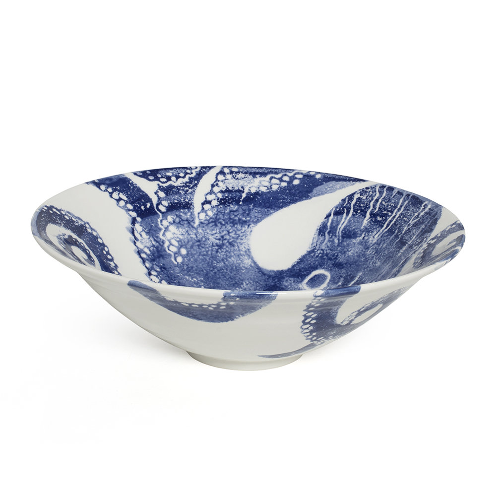 Bliss Home - Creatures Blue Octopus Salad Bowl