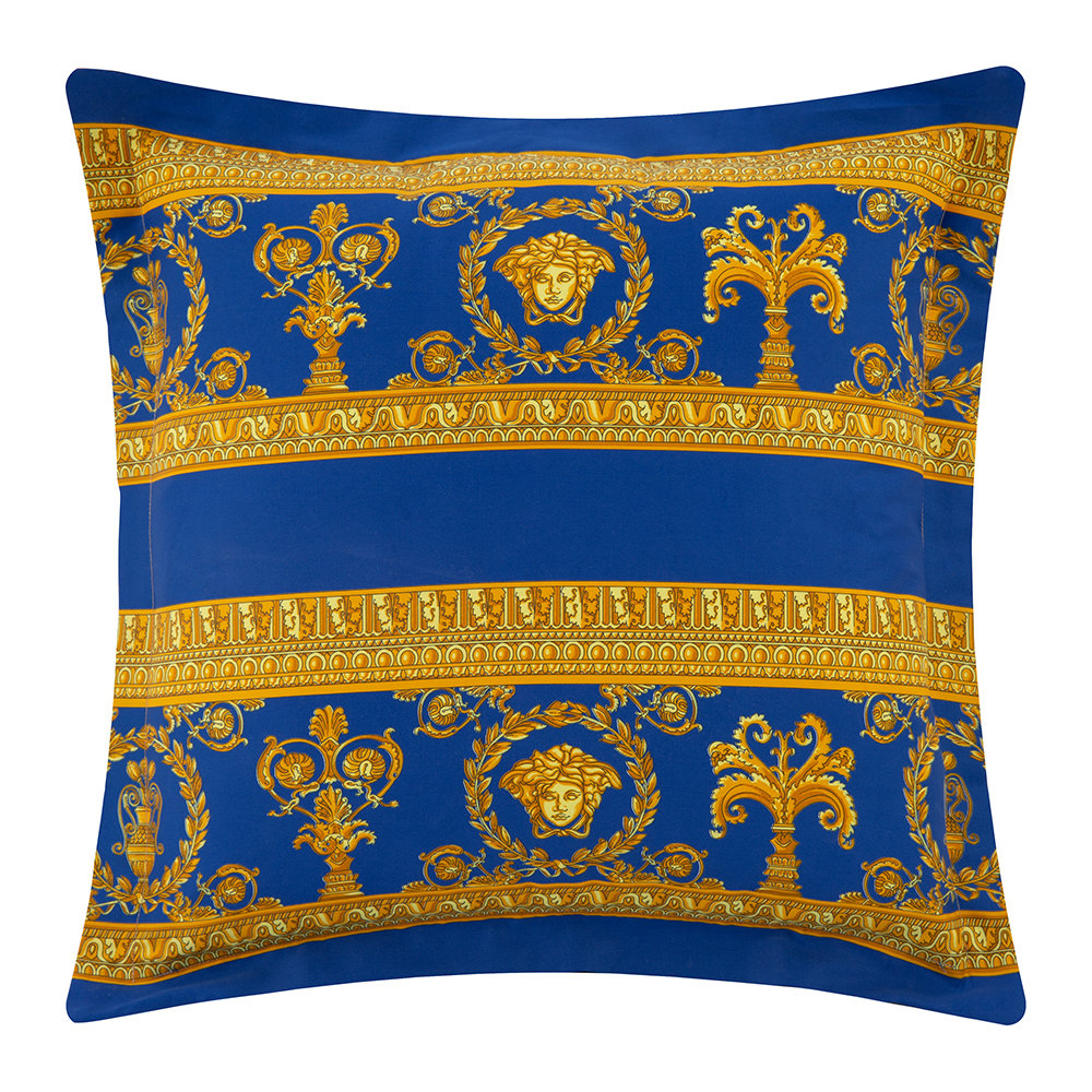 Versace Home - Barocco  Robe Double Face Reversible Cushion - Black/Gold/Blue