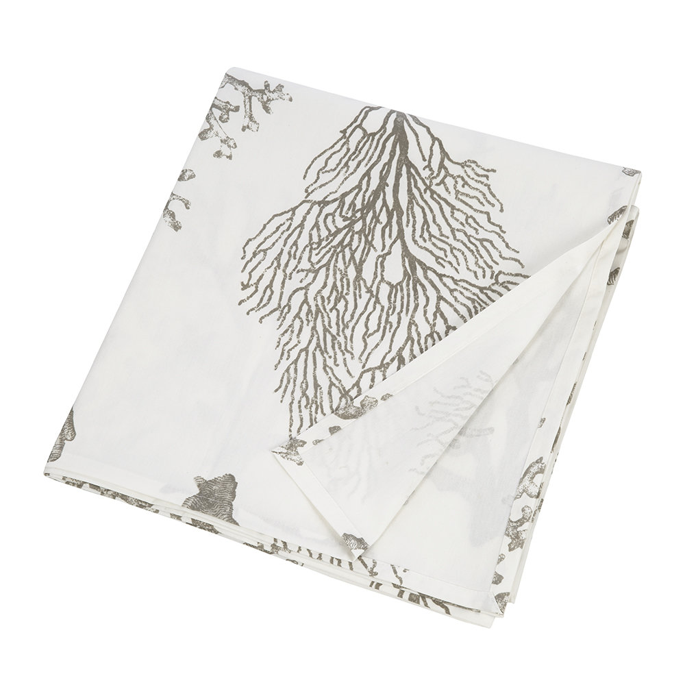 Marinette Saint Tropez - Bonifacio Coated Table Cloth - Grey - 160x260cm