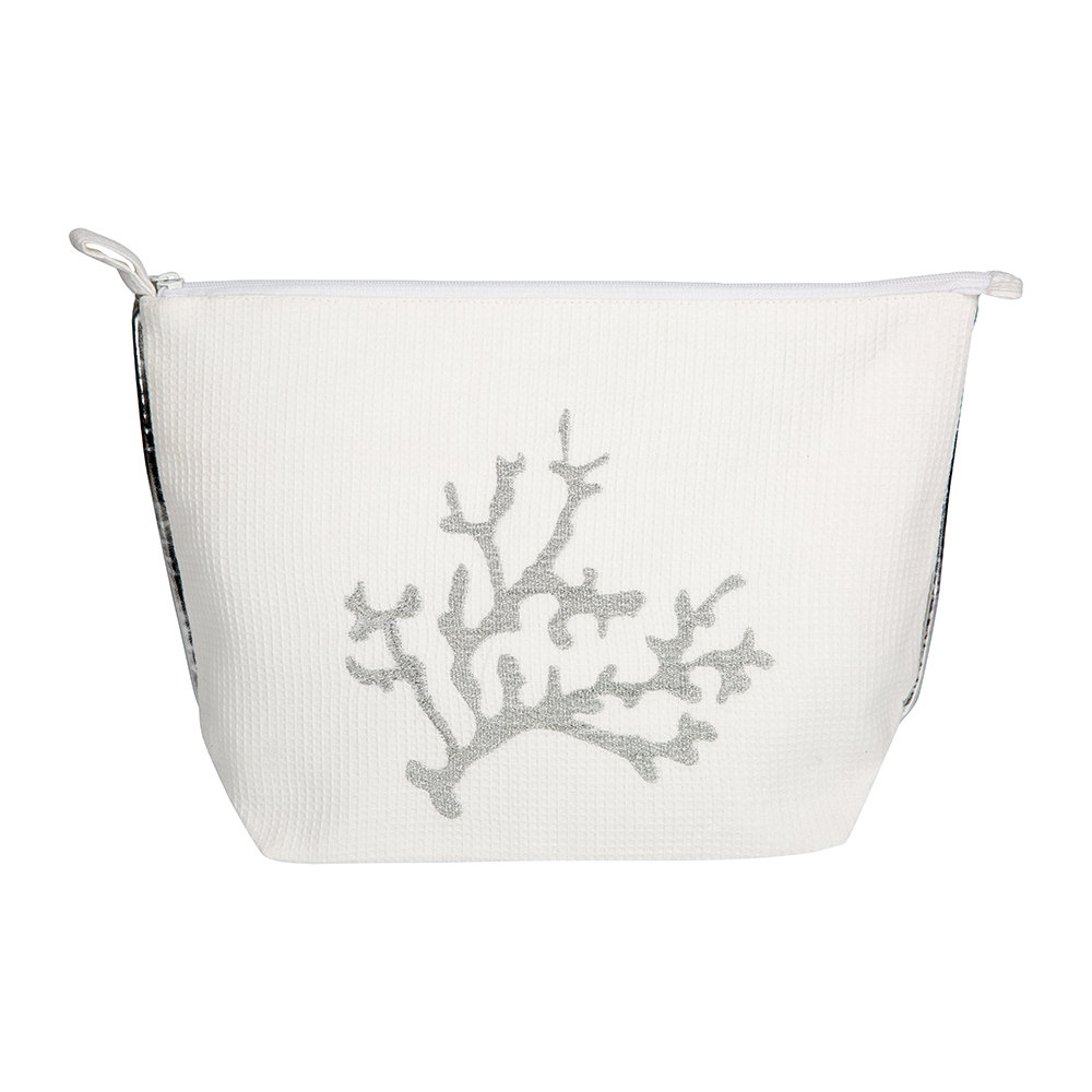 Marinette Saint Tropez - Coral Brode Cosmetic Bag - Ivory