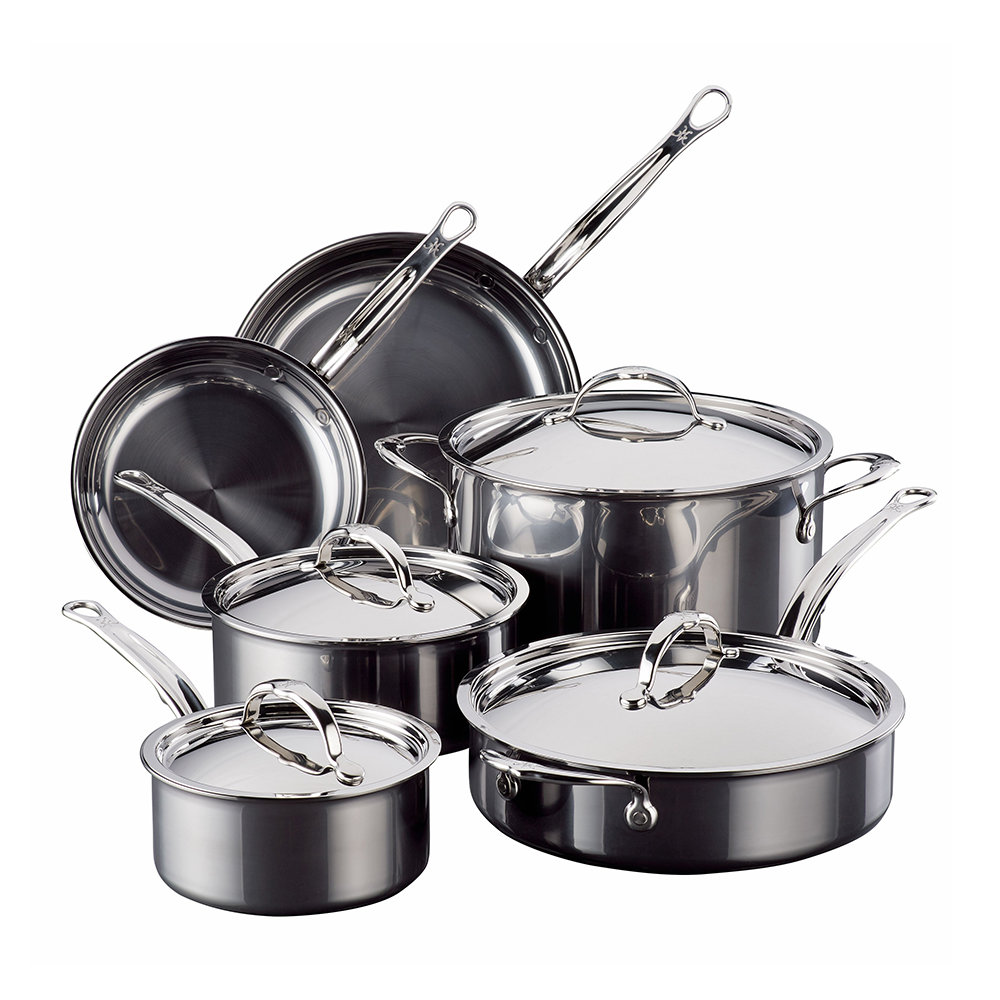 Hestan - Stainless Steel Cookware Set - 10 Piece Set