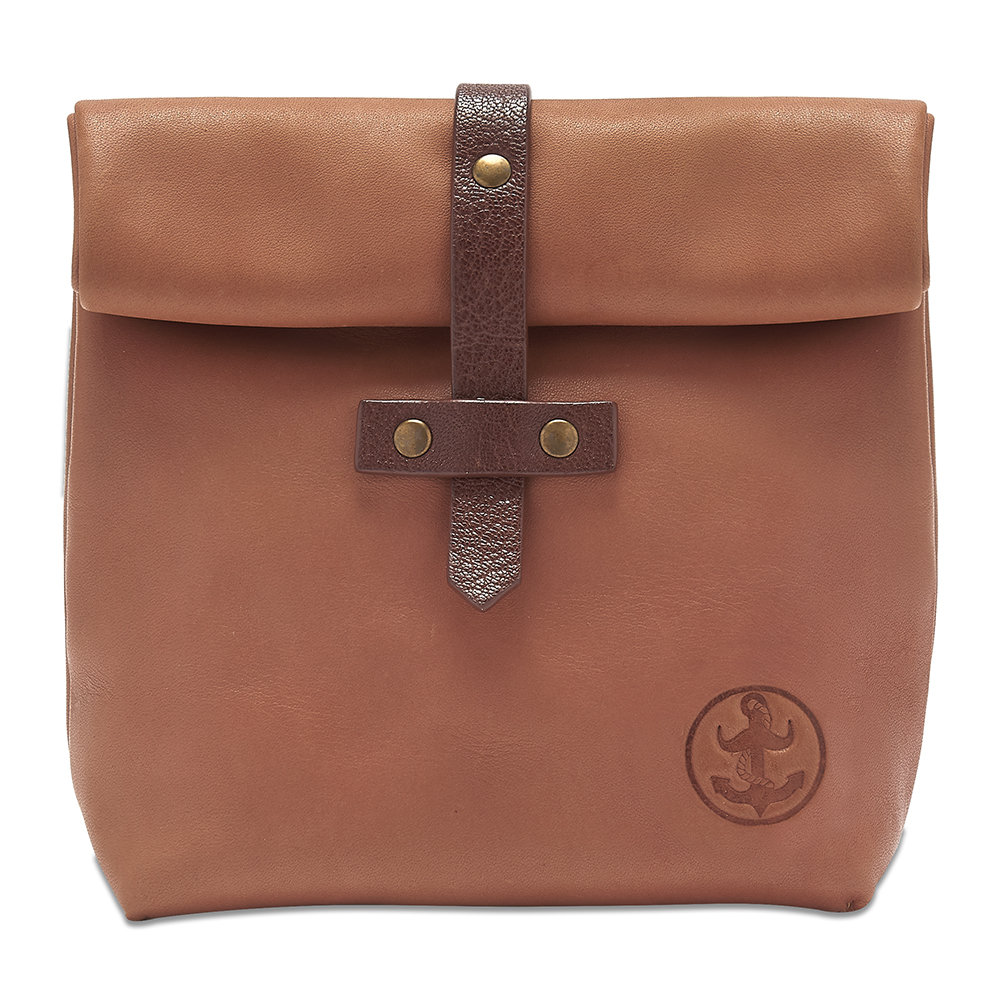 The Brighton Beard Company - Leather Roll-Down Ditty Bag