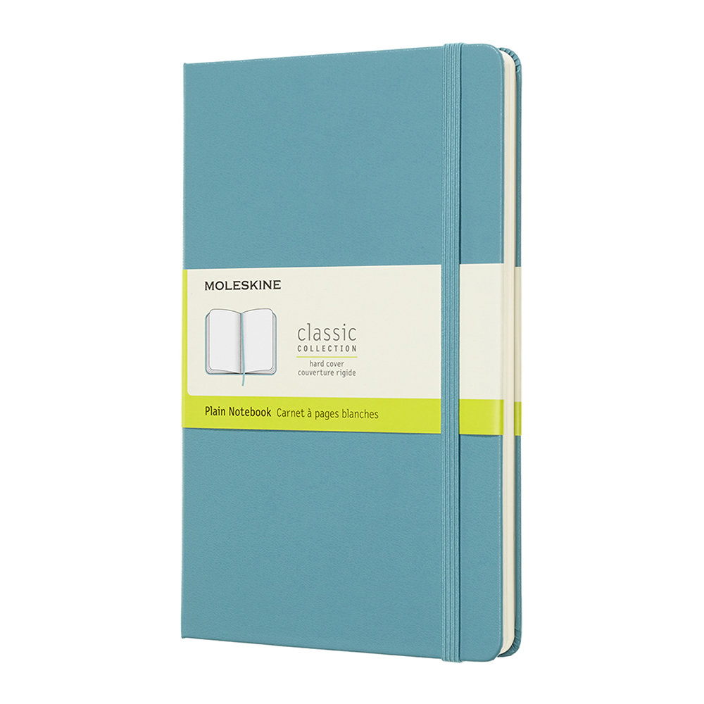Moleskine - Large Hardback Notebook - Blue - Plain