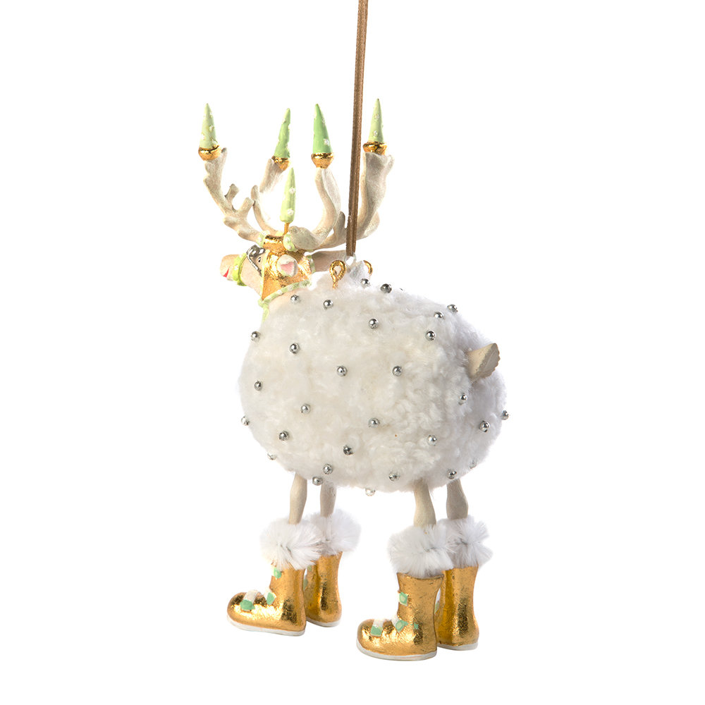 MacKenzie-Childs - Patience Brewster Moonbeam Blitzen Tree Decoration