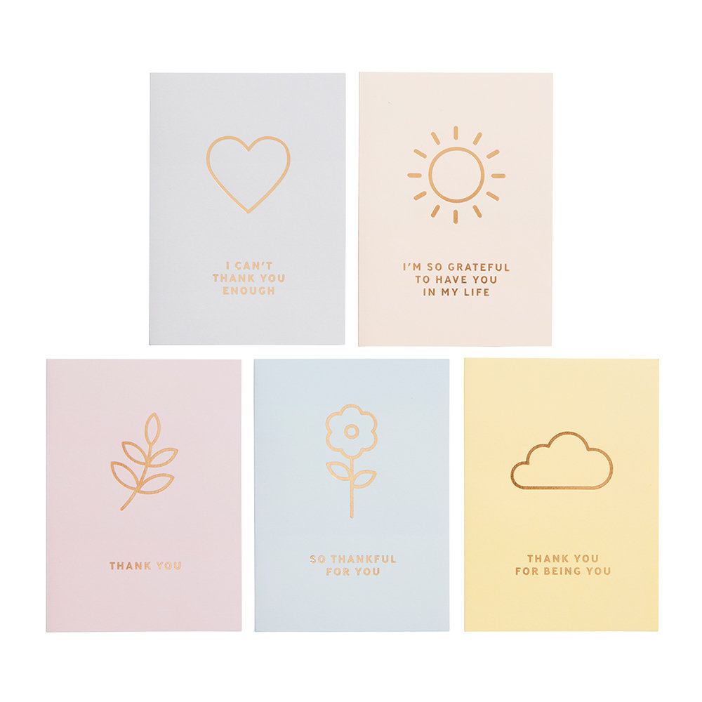 Kikki.K - Inspiration Thank You Greeting Cards - 10 Pack
