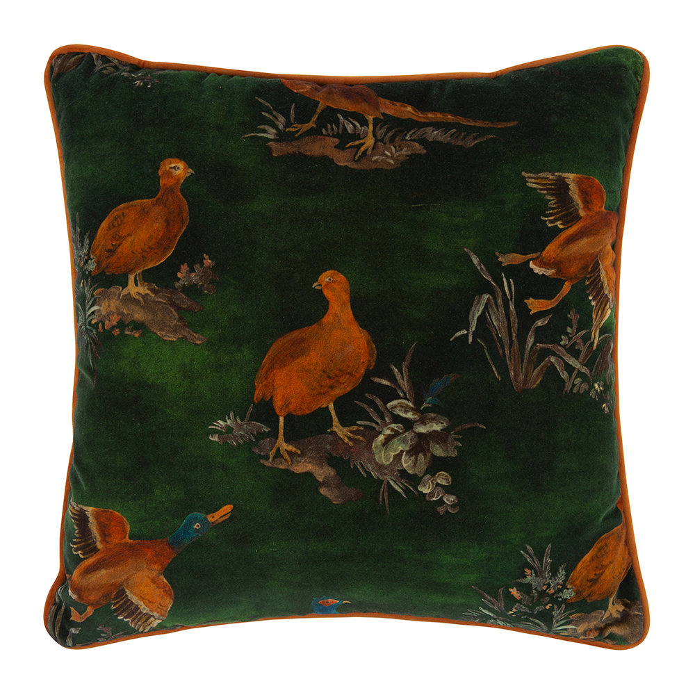 Mulberry Home - Game Show Cushion - 45x45cm - Emerald