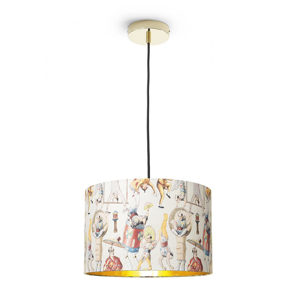 MINDTHEGAP - Asian Circus Drum Ceiling Light - Small