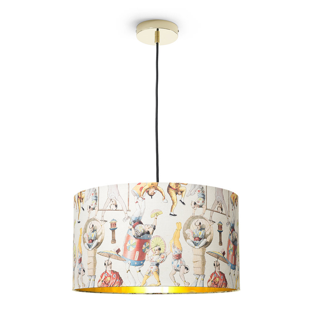 MINDTHEGAP - Asian Circus Drum Ceiling Light - Large
