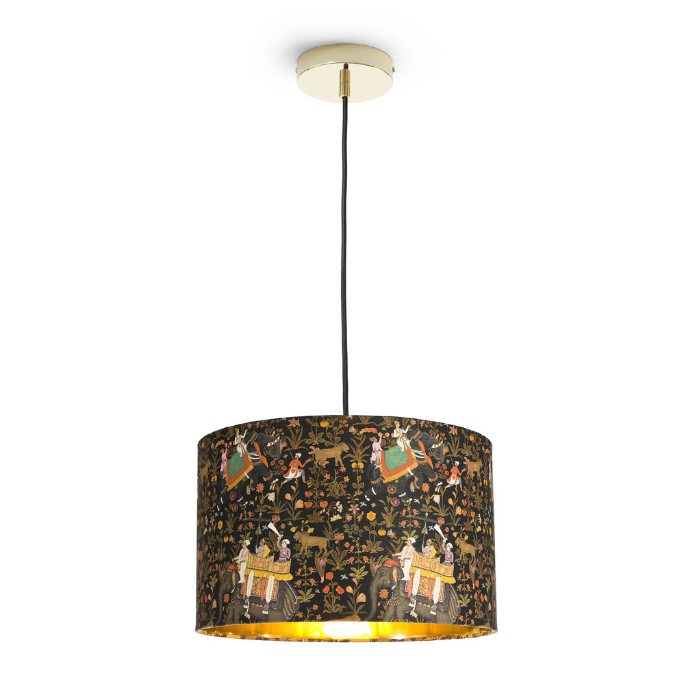 MINDTHEGAP - Hindustan Anthracite Drum Ceiling Light - Small