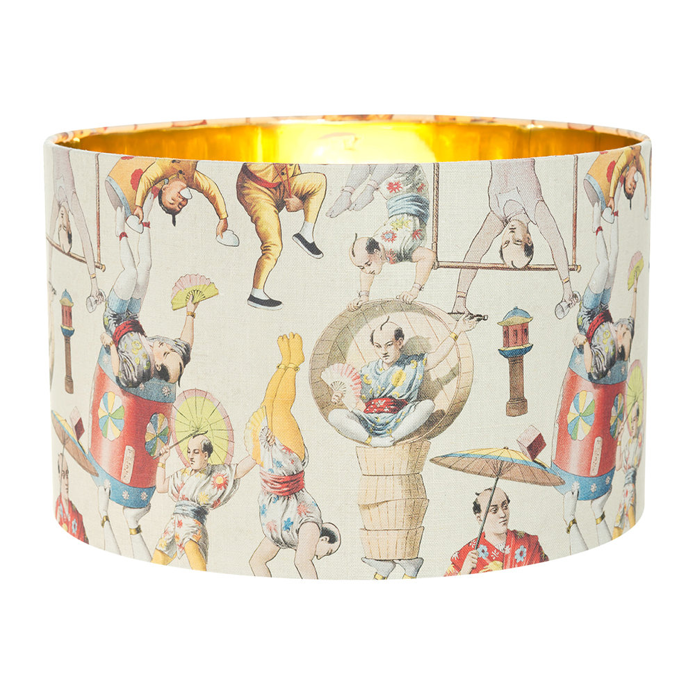 MINDTHEGAP - Asian Circus Drum Lamp Shade - Small