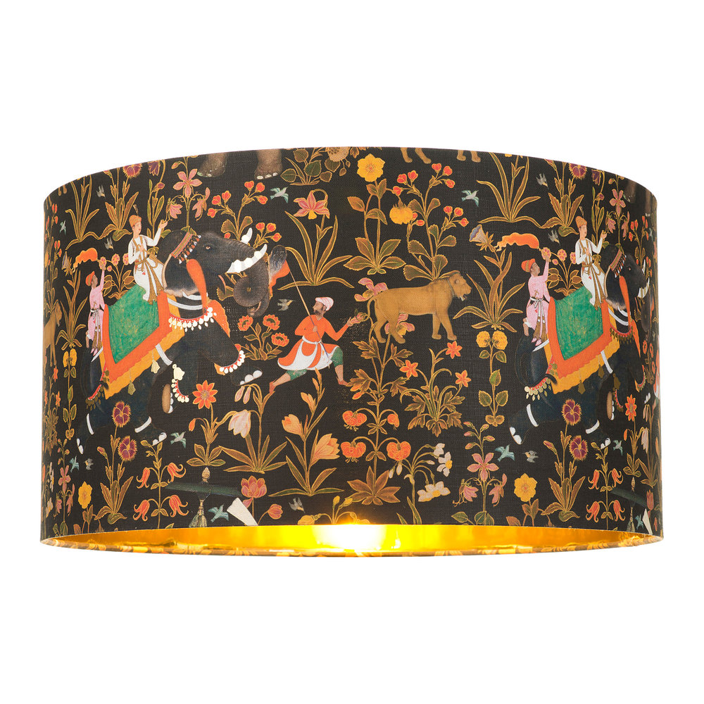 MINDTHEGAP - Hindustan Anthracite Drum Lamp Shade - Large