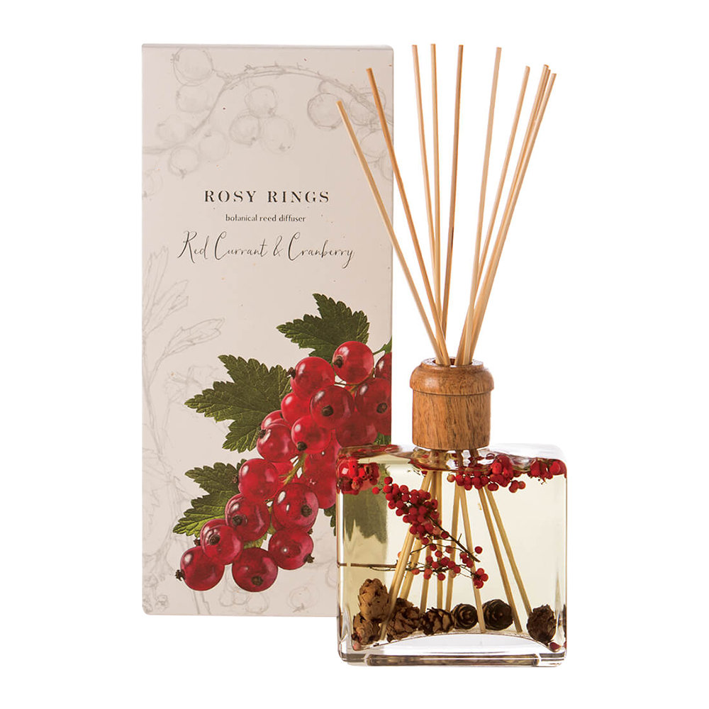 Rosy Rings - Botanical Reed Diffuser - Red Currant  Cranberry