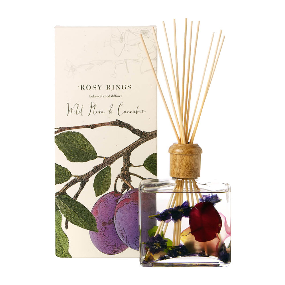 Rosy Rings - Botanical Reed Diffuser - Wild Plum  Cannabis