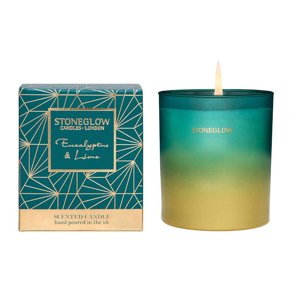 Stoneglow - Eucalyptus  Lime Tumbler Scented Candle