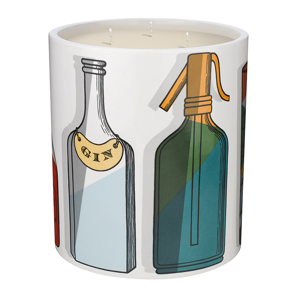 Fornasetti - Cocktail Candle - Otto - Large
