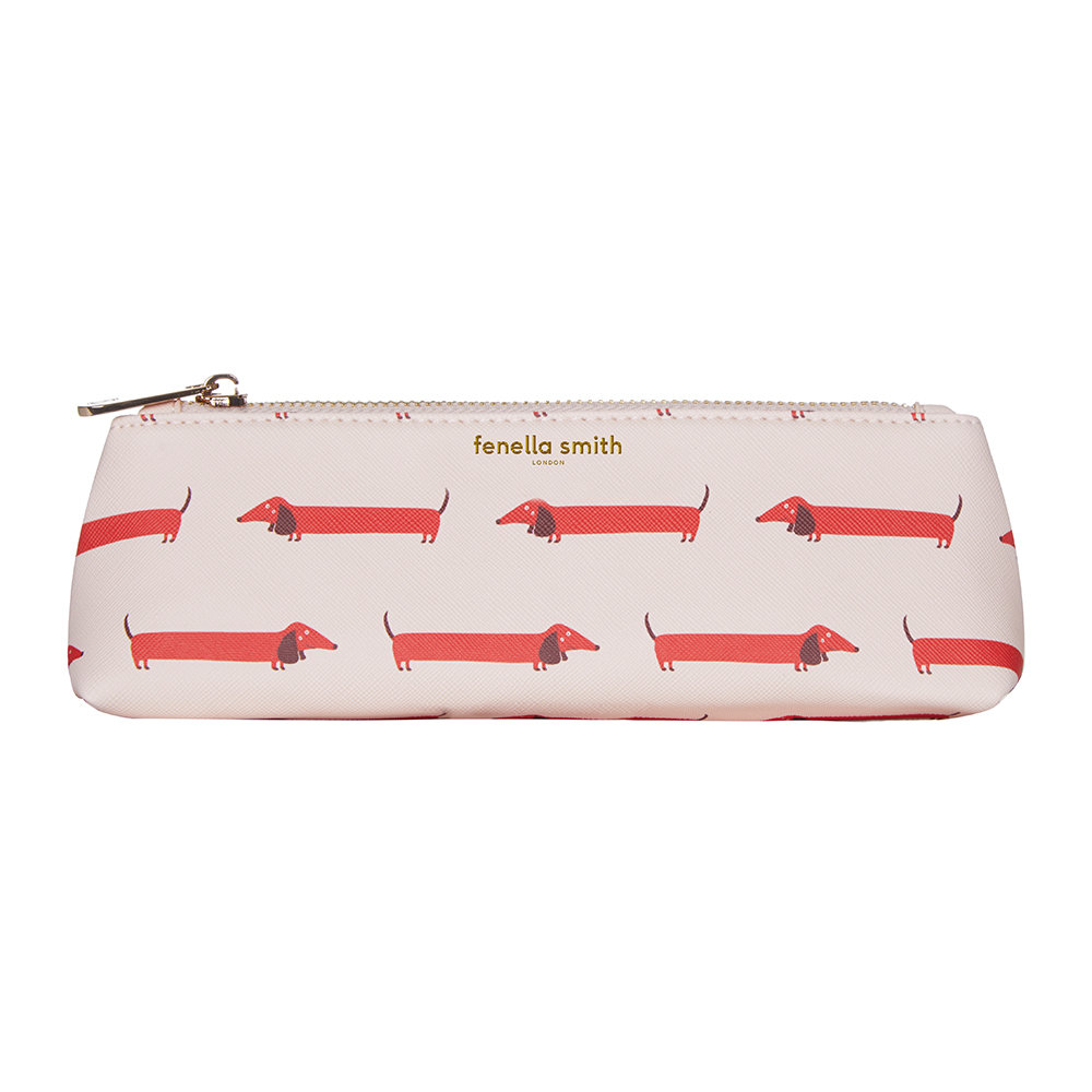 Fenella Smith - Dachshund Vegan Leather Pencil Case