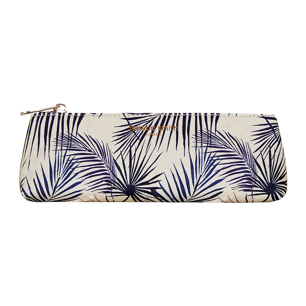 Fenella Smith - Blue Palm Vegan Leather Pencil Case