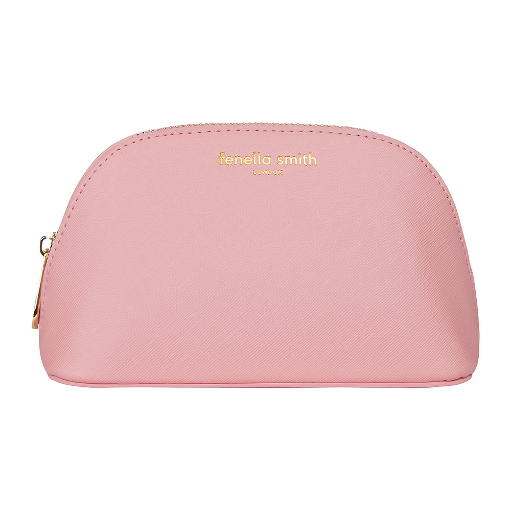 Fenella Smith - Vegan Leather Oyster Cosmetic Case - Blush