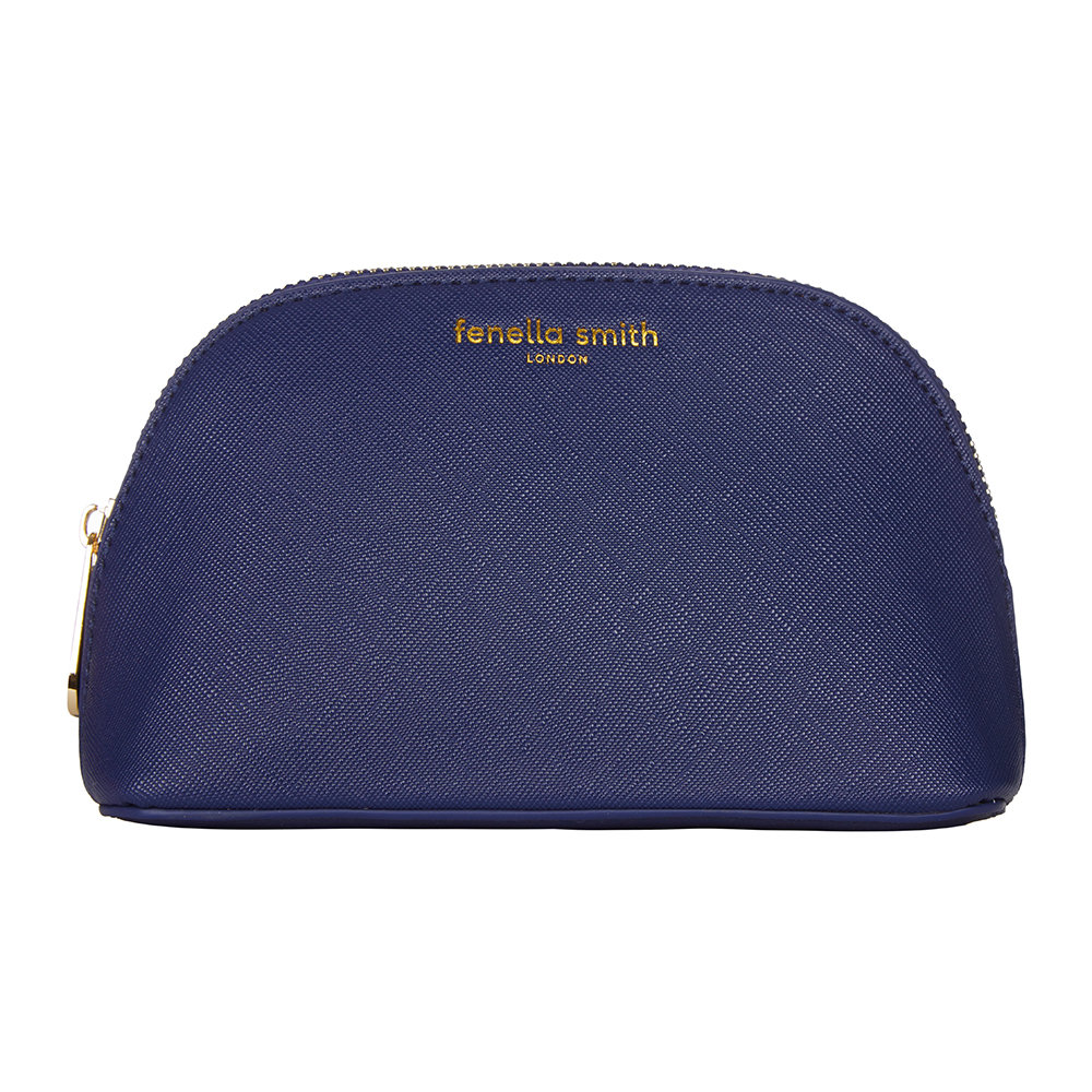 Fenella Smith - Vegan Leather Oyster Cosmetic Case - Navy