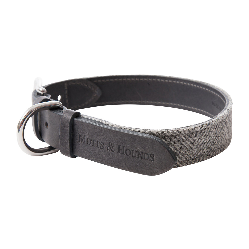 Mutts & Hounds - Tweed Collar - Stoneham - Small