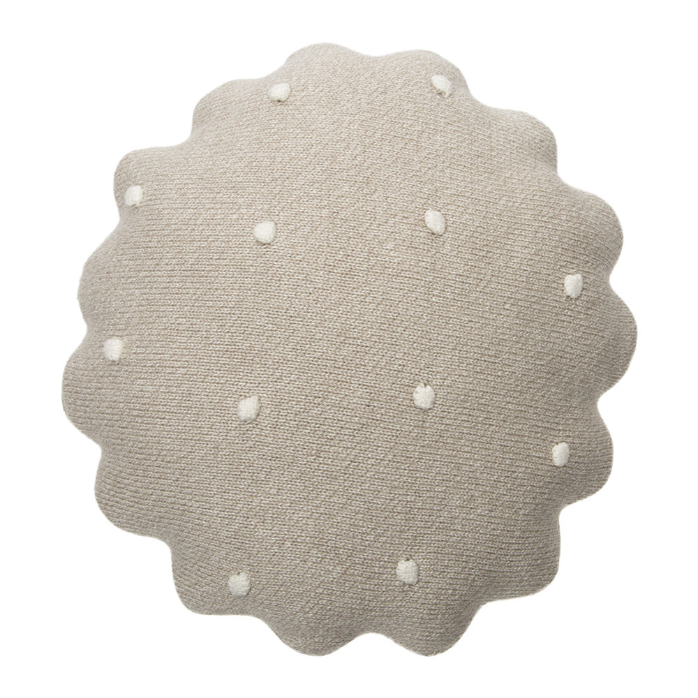 Lorena Canals - Round Biscuit Knitted Pillow - Dune White