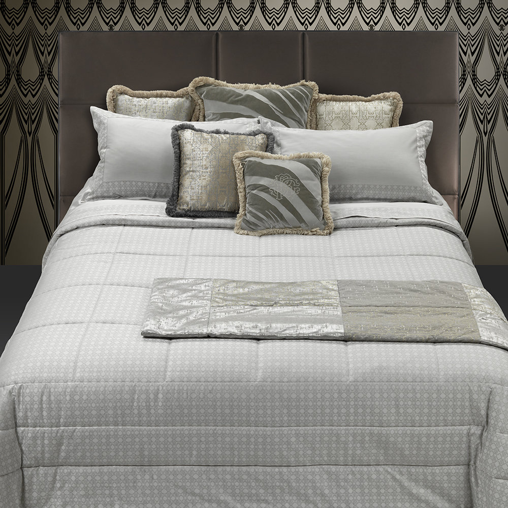 Roberto Cavalli - Araldico Jacquard Bed Set - Pearl - Super King