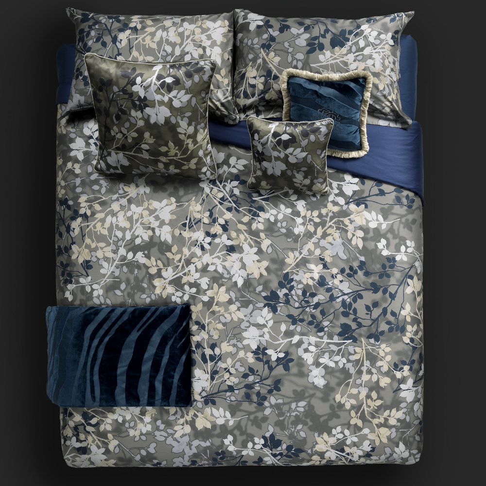 Roberto Cavalli - Canopy Bed Set - Blue - Super King