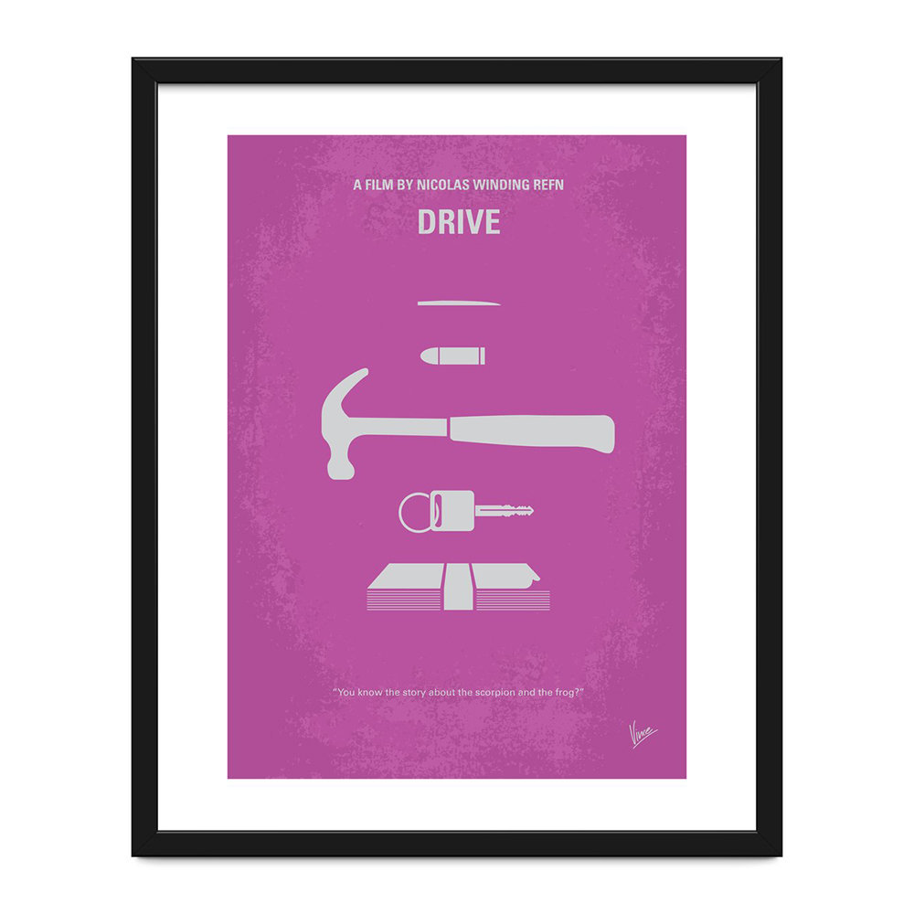 Monde Mosaic - My Drive Minimal Movie Print - 40x50cm