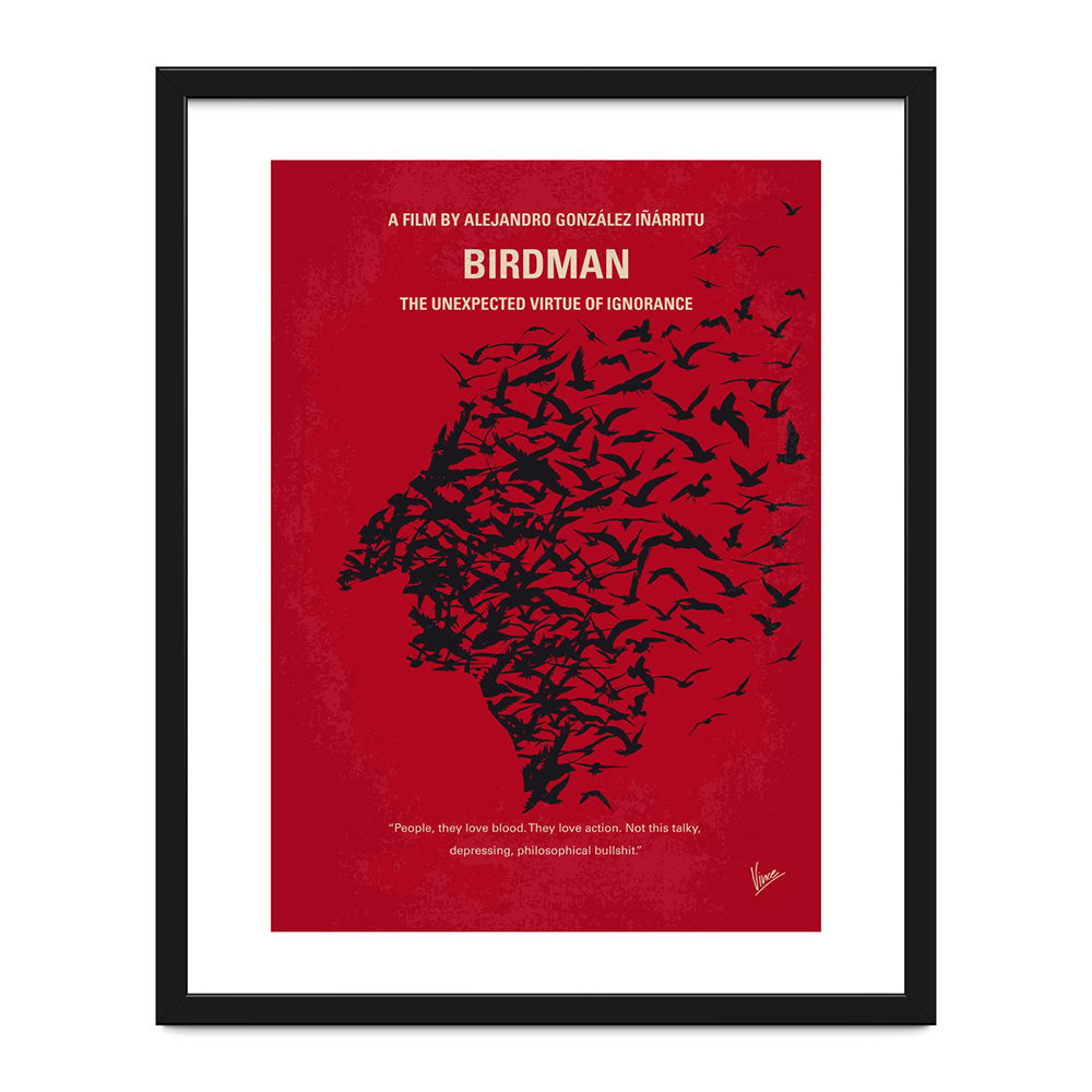 Monde Mosaic - My Birdman Minimal Movie Print - 40x50cm