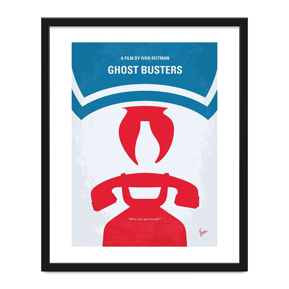 Monde Mosaic - My Ghostbusters Minimal Movie Print - 40x50cm