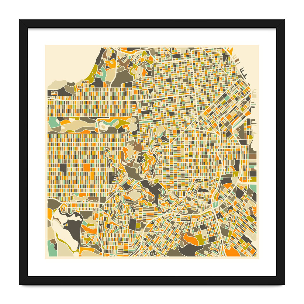 photograph about Printable Map of San Francisco identified as San Francisco Map Print - 40x40cm