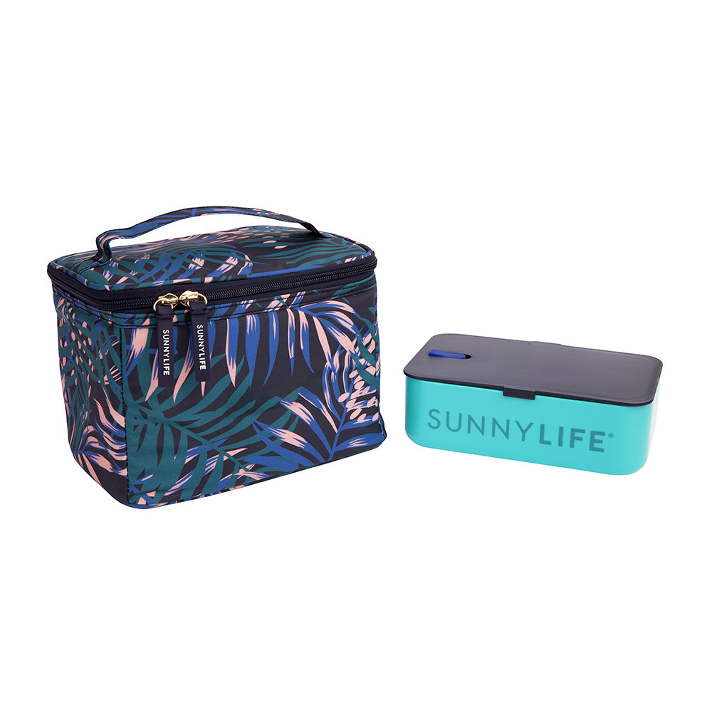 Sunnylife - Bloom Lunch Bag - Navy Blue
