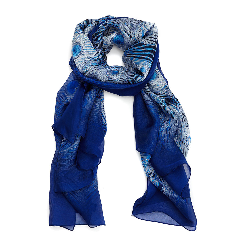 Liberty London - All O Hera Scarf - 110x130cm - Dark Blue