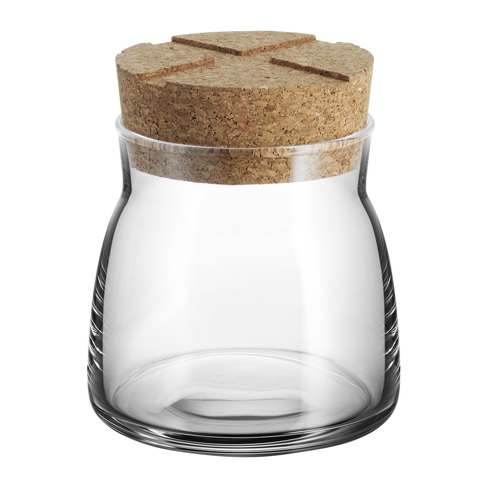 Orrefors Kosta Boda - Bruk Clear Jar with Cork Lid - Clear - Small