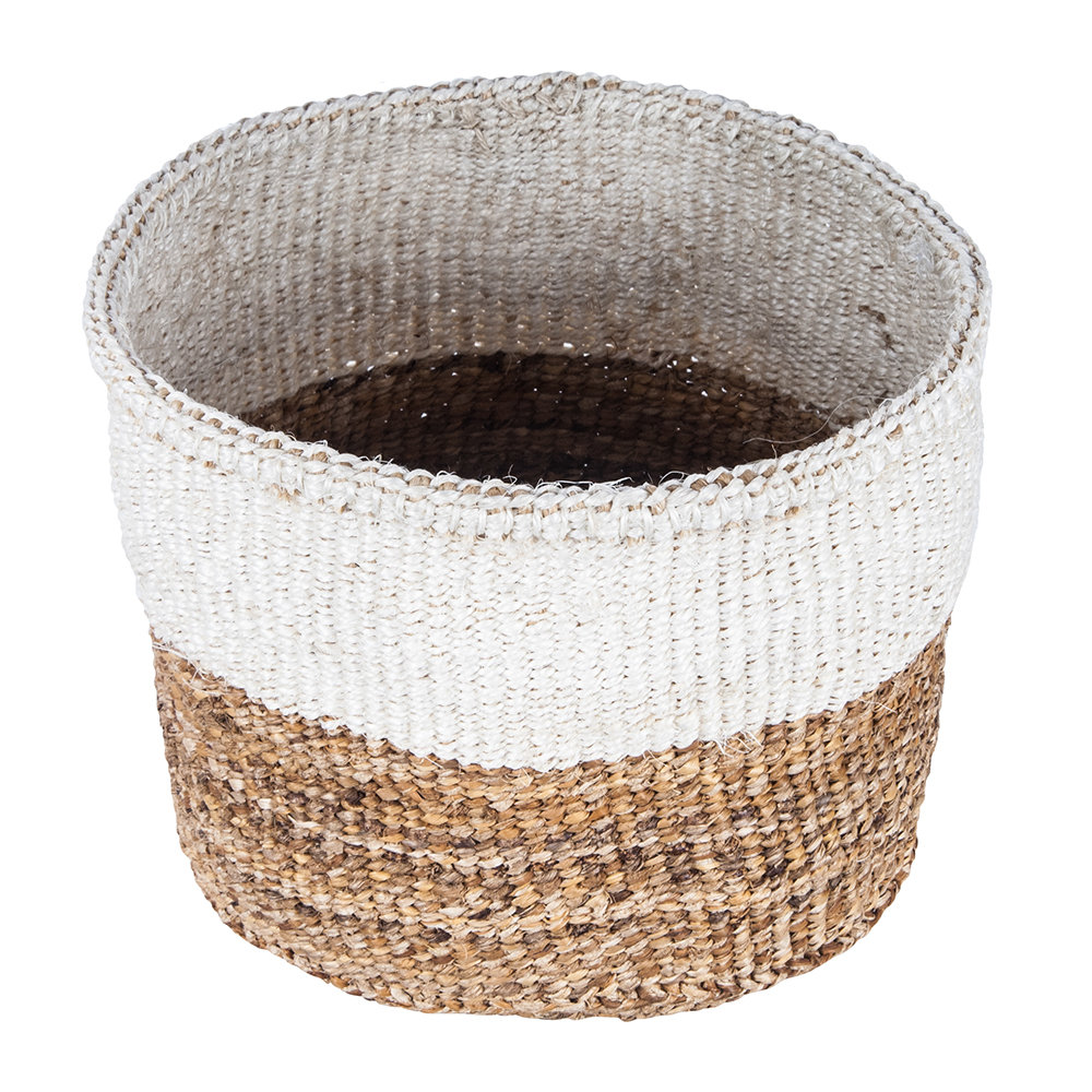 The Basket Room - Ndizi Banana Fibre and Sisal Basket - Natural - M