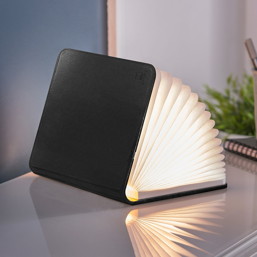 Gingko - Leather Smart Book Light - Black - Large