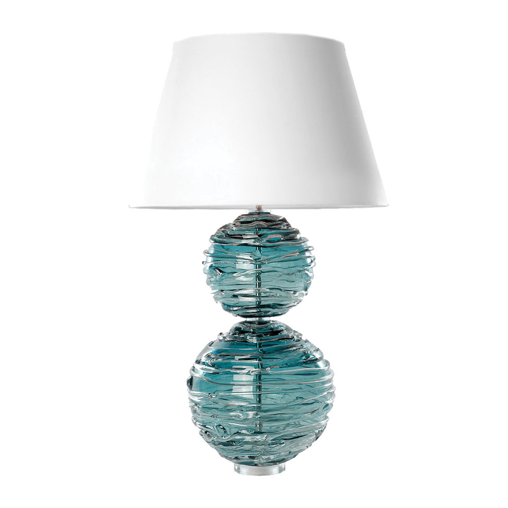 William Yeoward - Alfie Crystal Lamp - Turquoise
