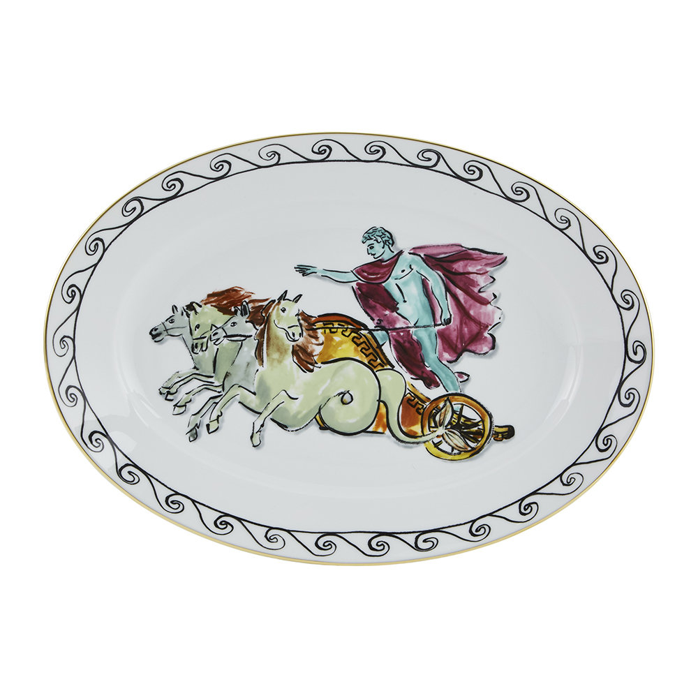 Richard Ginori 1735 - Plat Ovale Chariot Luke Edward Hall - Blanc