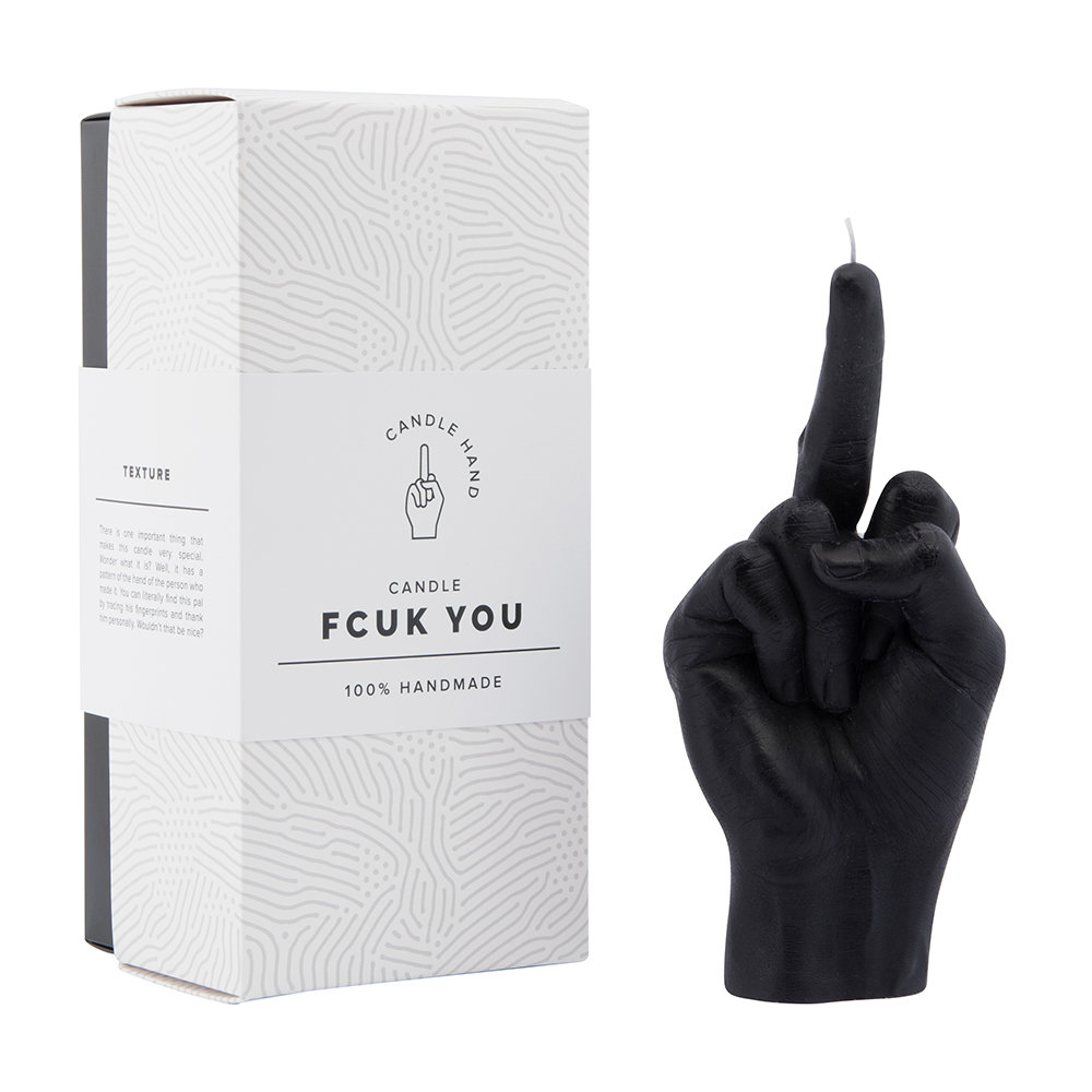 Candle Hands - Bougie « Fcuk you » - Noir