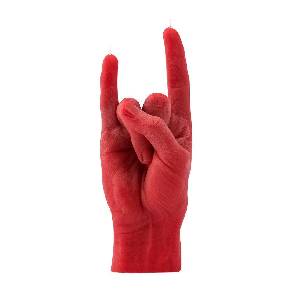 Candle Hands - 'You Rock' Candle - Red
