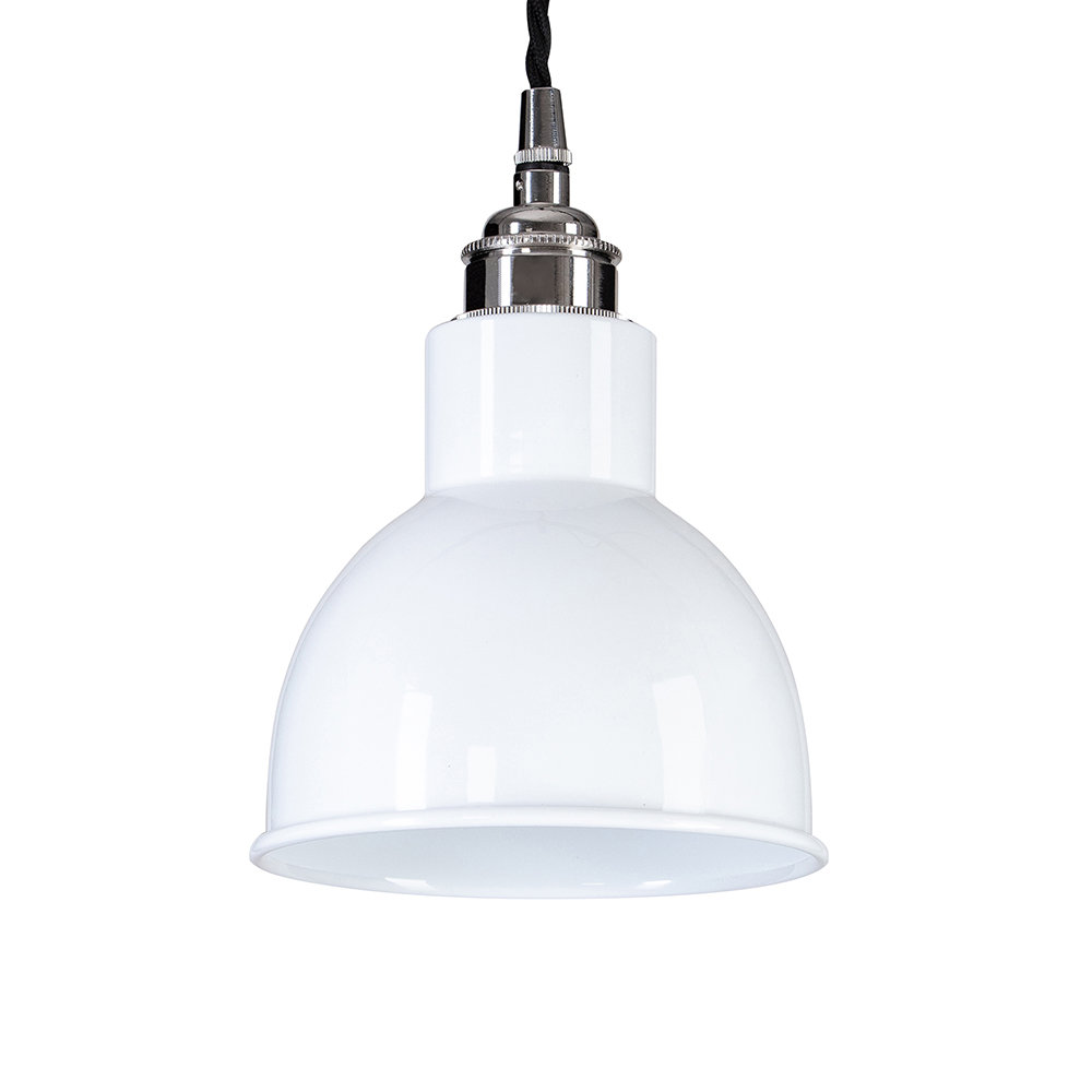 Old School Electric - Churchill Pendant Ceiling Light - White