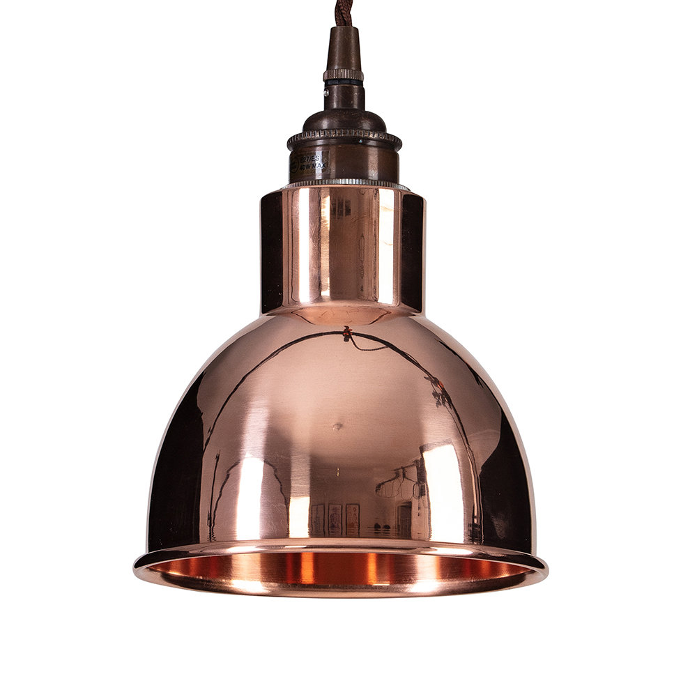 Old School Electric - Churchill Pendant Ceiling Light - Copper