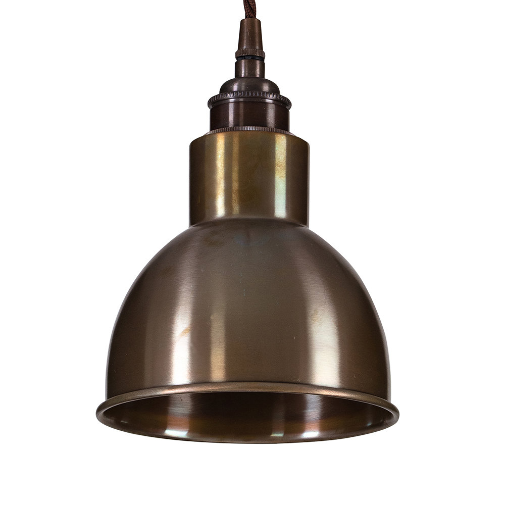 Old School Electric - Churchill Pendant Ceiling Light - Antique Brass