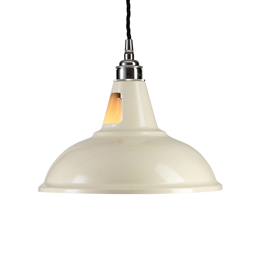 Old School Electric - Factory Pendant Ceiling Light - Ivory