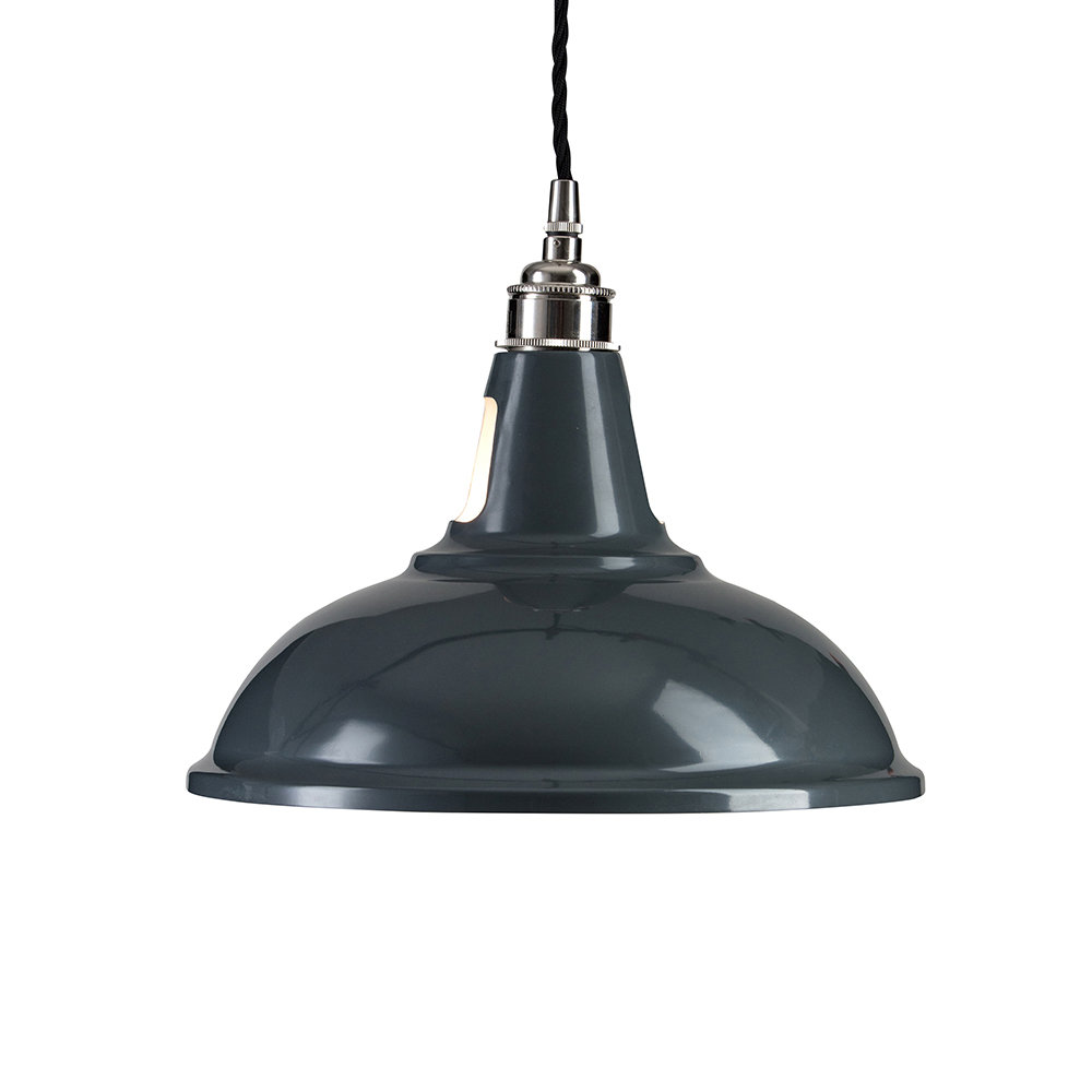 Old School Electric - Factory Pendant Ceiling Light - Grey