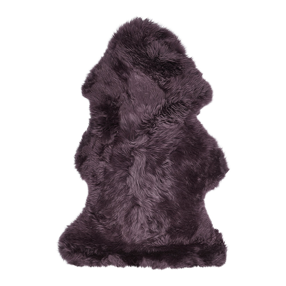Essentials - New Zealand Sheepskin Rug - 90x60cm - Aubergine