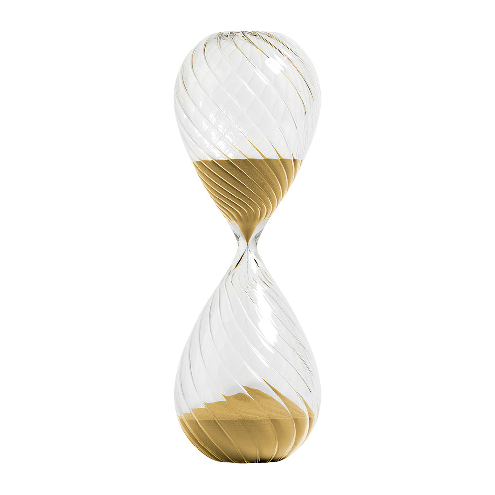 HAY - Glass Sand Timer - Gold - 90 Minutes
