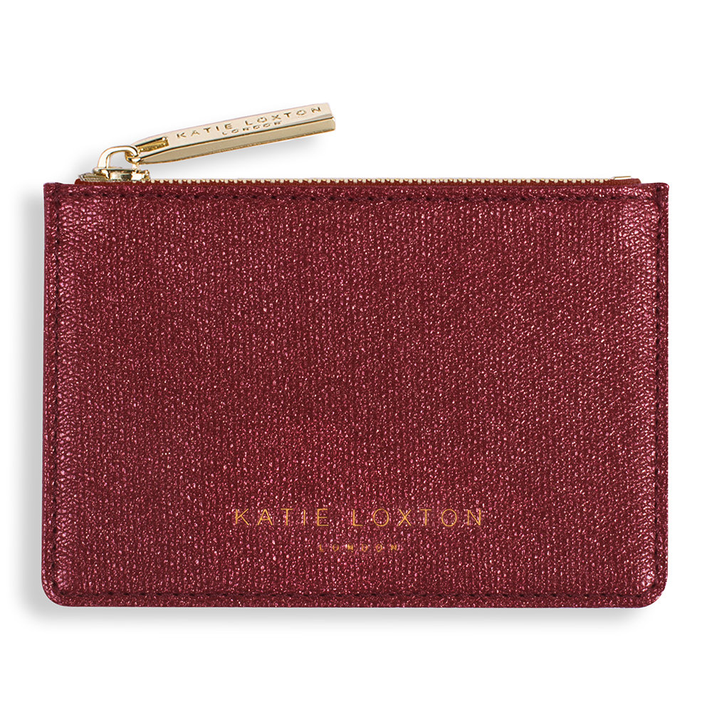 Katie Loxton - Alexa Metallic Card Holder - Red Shimmer