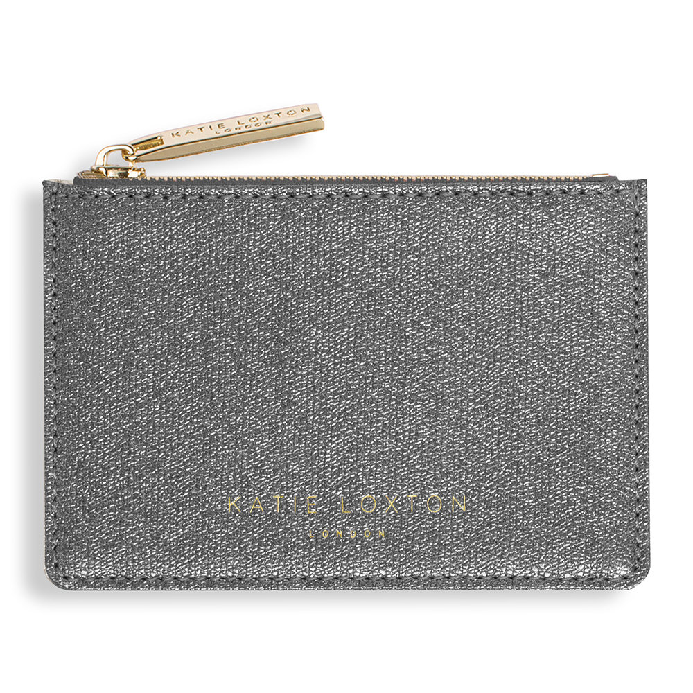 Katie Loxton - Alexa Metallic Card Holder - Charcoal Shimmer